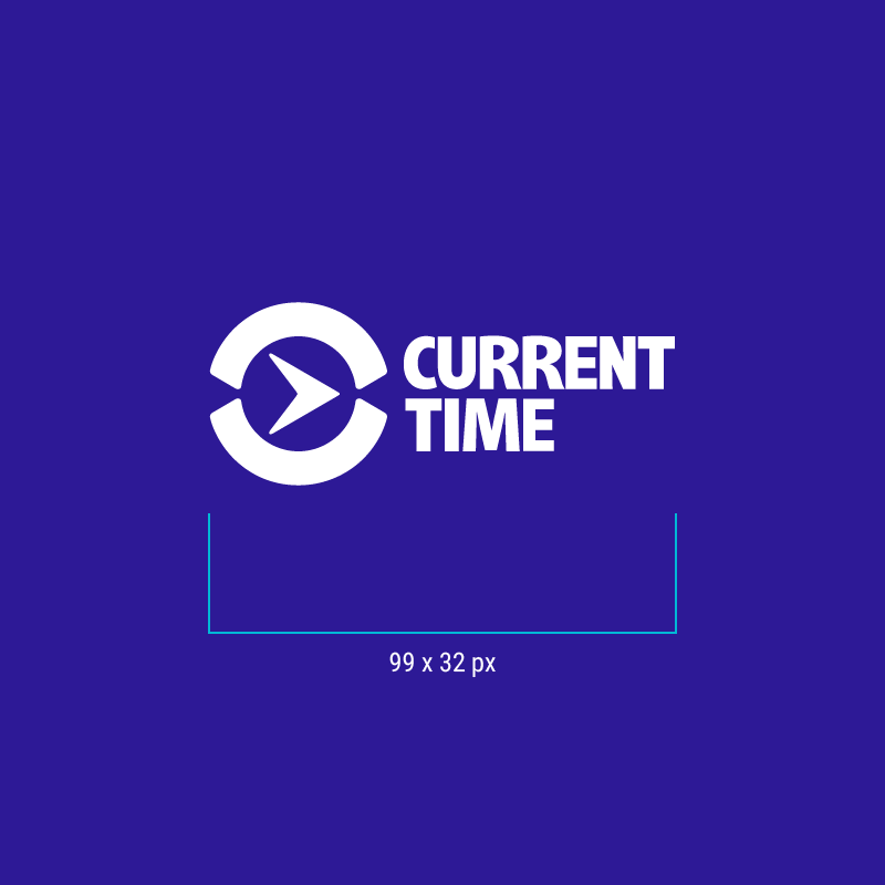 CurrentTime - Minimum Brandmark size